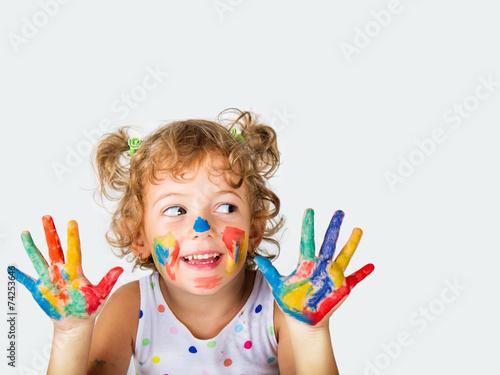 Fototapeta bambina felice obraz
