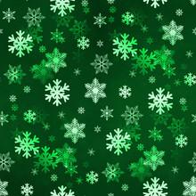 Dark Green Snowflakes