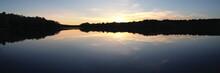 Sunset Over Puskus Lake In Mis...