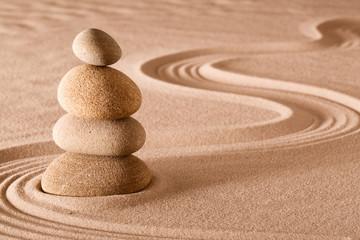 Fototapeta na wymiar balancing stones zen garden