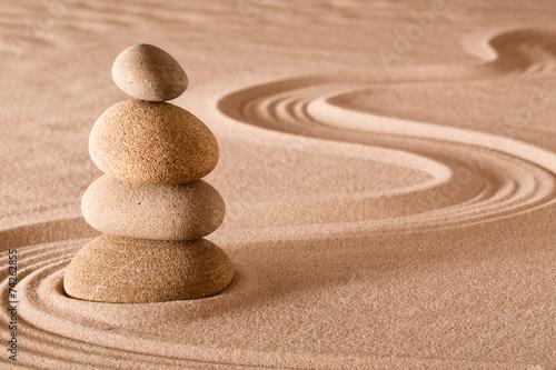 Acrylic Prints Stones in Sand balancing stones zen garden