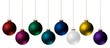 canvas print picture - Christmas Ornaments Isolated on White