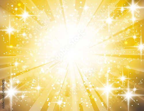 Obraz ゴールド輝き - fototapety do salonu