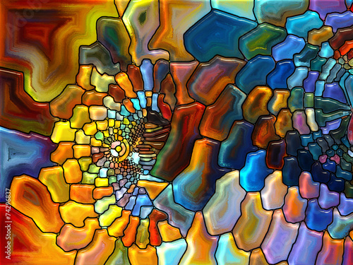 Toward Digital Stained Glass - Buy this stock illustration and explore ...
