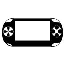Portable Game Pad Isolated On White