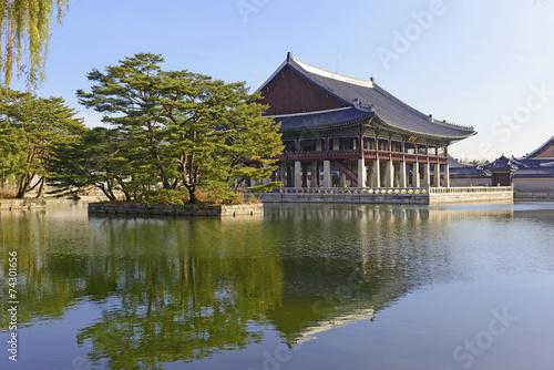 Gyeonghoeru Pavilion, Gyeongbokgung Palace, Seoul Korea Poster