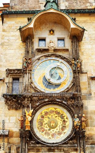 Foto op Aluminium Praag The Prague astronomical clock (Prague orloj) at the Old Town Squ