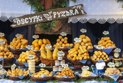 Fototapeta Annual christmas fair at the Main Market Square. Krakow, Poland. obraz