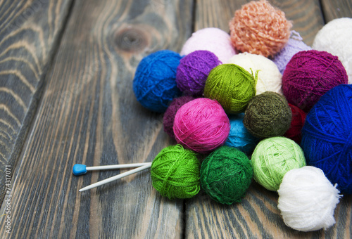 Fotografie, Obraz  Color woolen clews