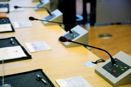 Fotomural  Microphones for speech in the conference room