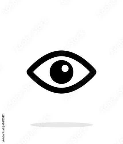 Fotografia Eye icon on white background.