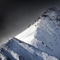 piece of light in mountains