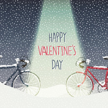 Valentines Card. Snow Covered ...