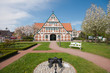 canvas print picture - Rathaus in Jork, Altes Land, Deutschland