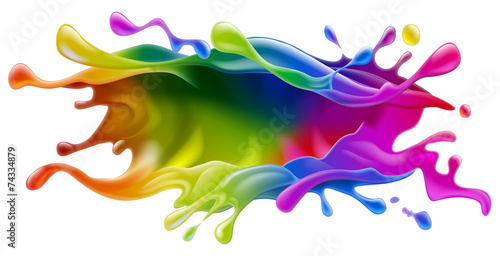 Deurstickers Vormen Paint splash design