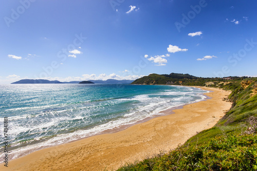 Платно landscape of zante island