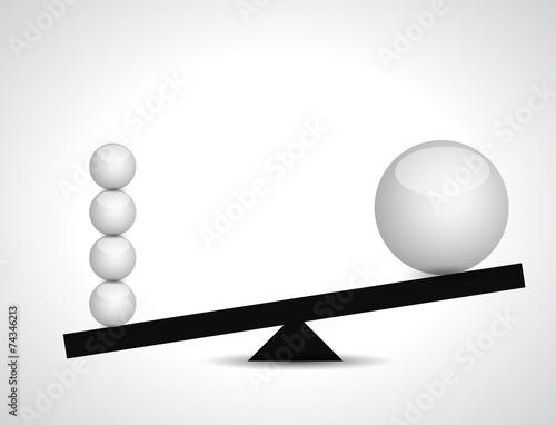 Fotografie, Obraz  sphere balance illustration design