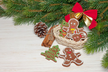 Christmas and New Year cookie man