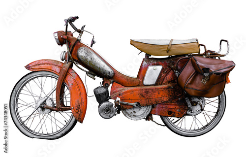 Aluminium Prints Scooter Vintage French Moped