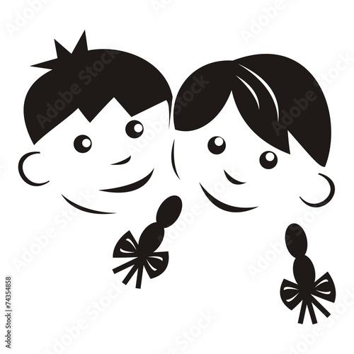 dzieci-czarna-sylwetka
