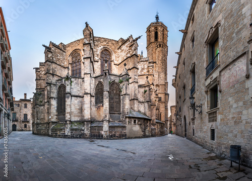 Panorama of Cathedral of the Holy Cross and Saint Eulalia, View #74360015