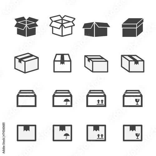 Photographie  Jeu d'icônes de boîte