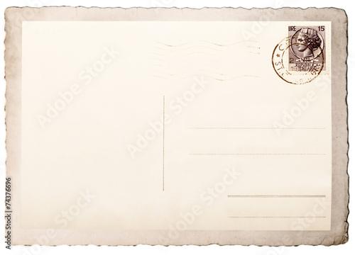 Fotografia  vecchia cartolina postale vintage