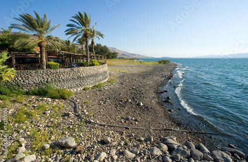 Canvas-taulu Beach of sea of galilee
