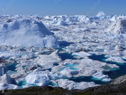 amazing greenland ice fjord