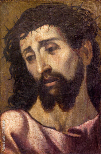 Seville - portrait of Jesus Christ with the crown of thons - 74383429