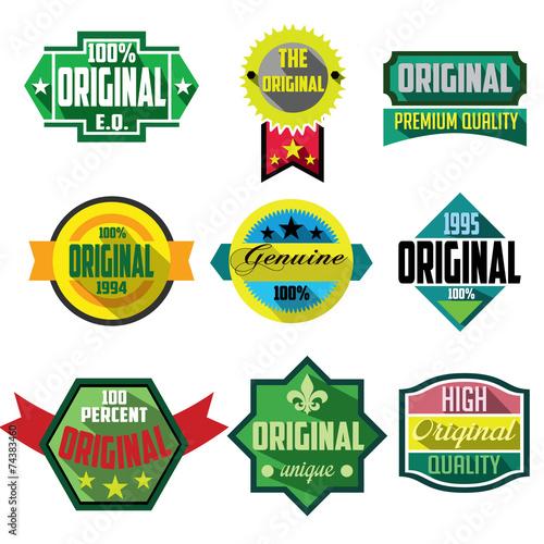Fotografia  Original logo badges and labels