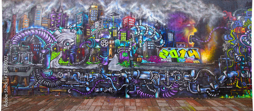 Foto op Canvas Graffiti Graffiti