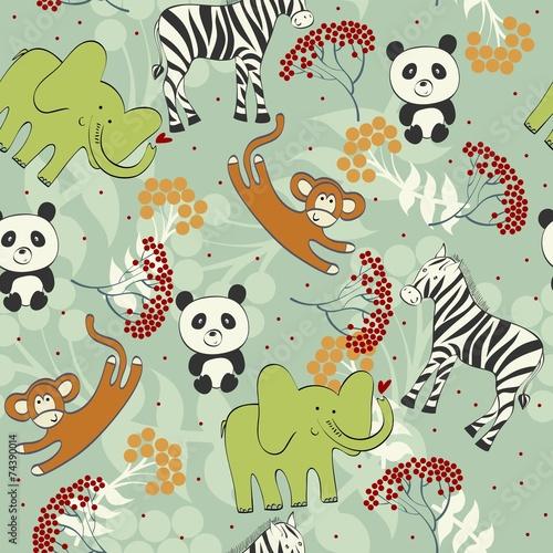 powtarzajacy-sie-wzor-ze-zwierzat-safari
