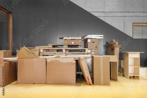 Fotografie, Obraz  Umzug Kartons