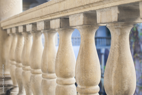 Cuadros en Lienzo Stone art baroque baluster and staircase