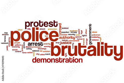 Photo  Police brutality word cloud