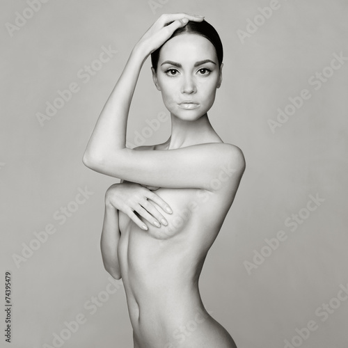 Elegant naked lady плакат