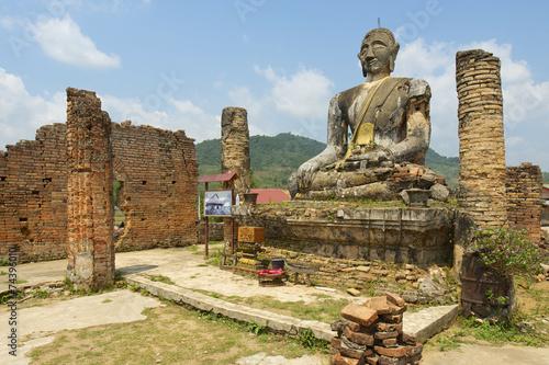 Printed kitchen splashbacks Place of worship Relics of Wat Piyawat temple, Xiangkhouang province, Laos.