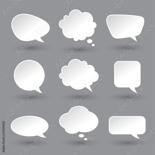 Cuadros en Lienzo  White speech bubbles set