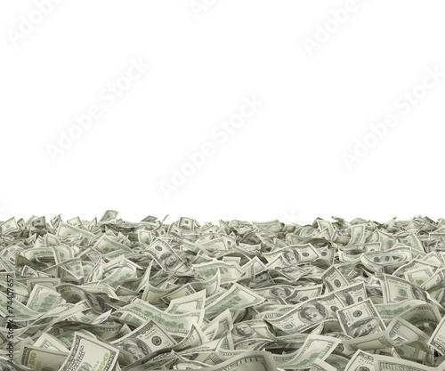 hundred dollar bills Canvas Print