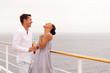 young couple having fun on cruise ship
