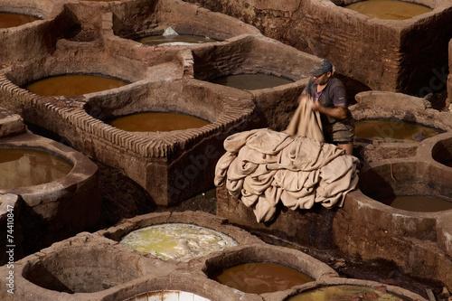 Fototapety, obrazy: Tannery in Fez, Morocco