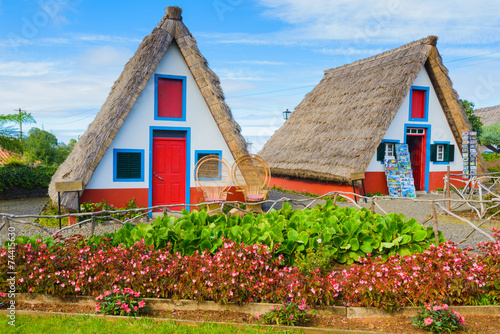 Fotografie, Obraz  Traditional cottages in Santana, Madeira (Portugal)