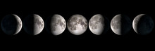 Moon Phases Panoramic Collage,...
