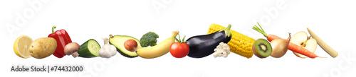 Spoed Foto op Canvas Verse groenten Sehr gesunde Nahrung