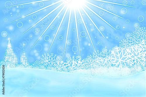 Fototapeta zimowy krajobraz obraz