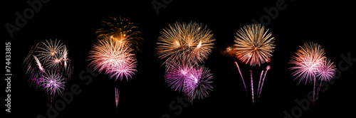 Slika na platnu beautiful fireworks over sky