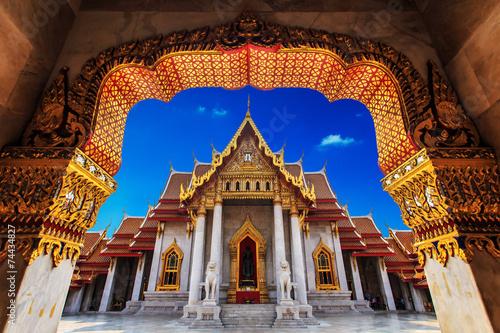 Cadres-photo bureau Bangkok Temple in Bangkok, Beautiful Thai Temple Wat Benjamaborphit in T