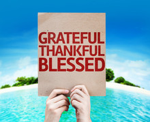 Grateful Thankful Blessed Card...