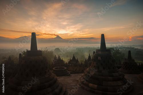 Spoed Foto op Canvas Bali Borobudur Temple